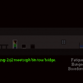 As the game progresses, the room gets darker and darker and words become less and less understandable. Every few days the furniture is different than how the player remembers it the day before. All this combined makes it very hard to survive towards the end of the game.