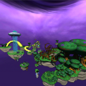 The final tower level consists of a tower that is full of spinning deadly gears. The level is designed to look very difficult and chaotic to the player, but still give the player enough direction to get all the way to the top.